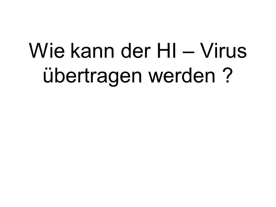Wie kann der HI – Virus übertragen werden
