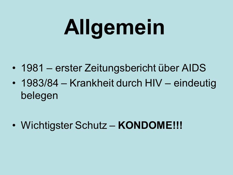 Allgemein 1981 – erster Zeitungsbericht über AIDS