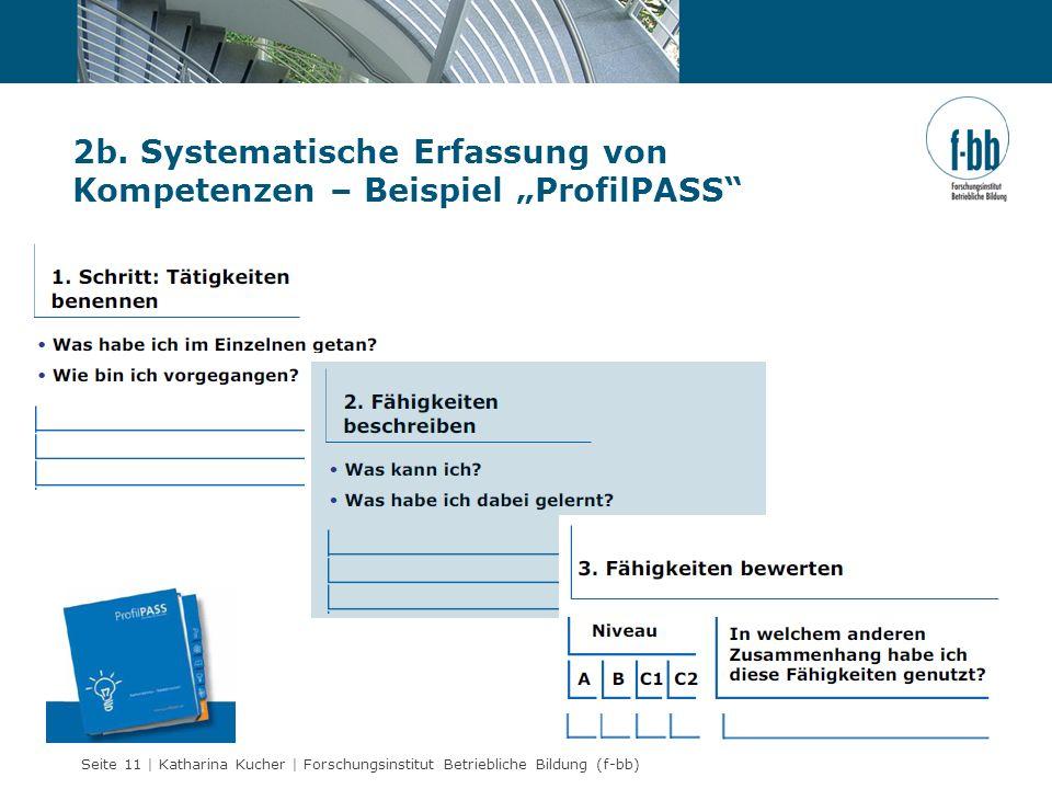 """2b. Systematische Erfassung von Kompetenzen – Beispiel """"ProfilPASS"""