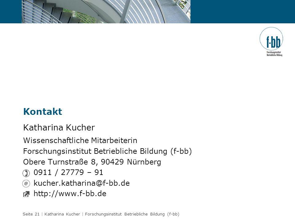 Kontakt Katharina Kucher Wissenschaftliche Mitarbeiterin