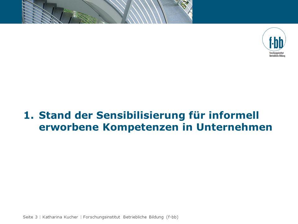 Stand der Sensibilisierung für informell erworbene Kompetenzen in Unternehmen