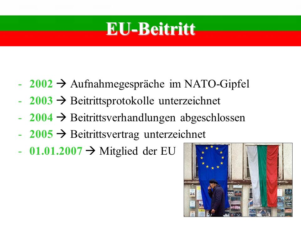EU-Beitritt 2002  Aufnahmegespräche im NATO-Gipfel