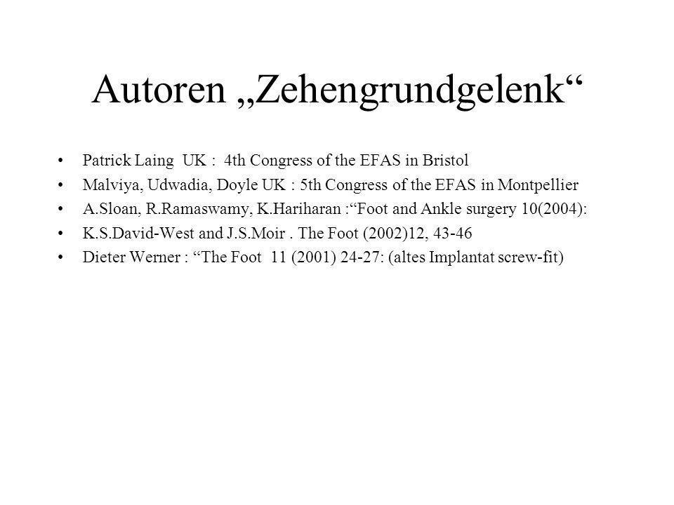 """Autoren """"Zehengrundgelenk"""