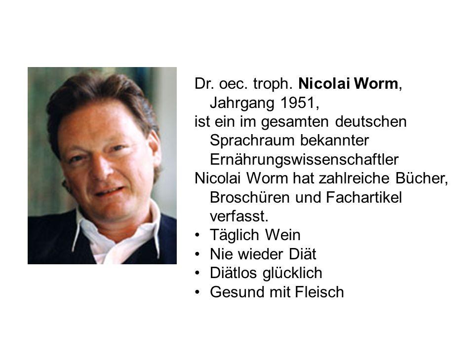 Dr. oec. troph. Nicolai Worm, Jahrgang 1951,