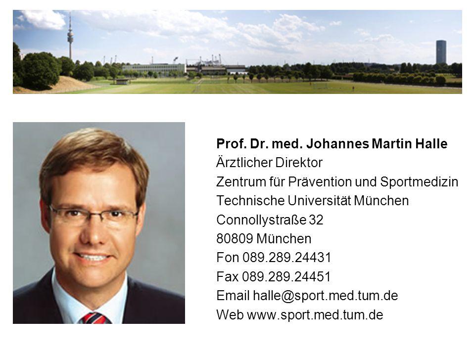 Prof. Dr. med. Johannes Martin Halle