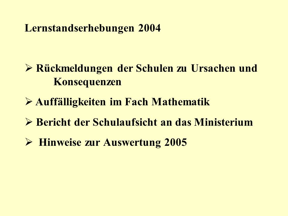 Lernstandserhebungen 2004