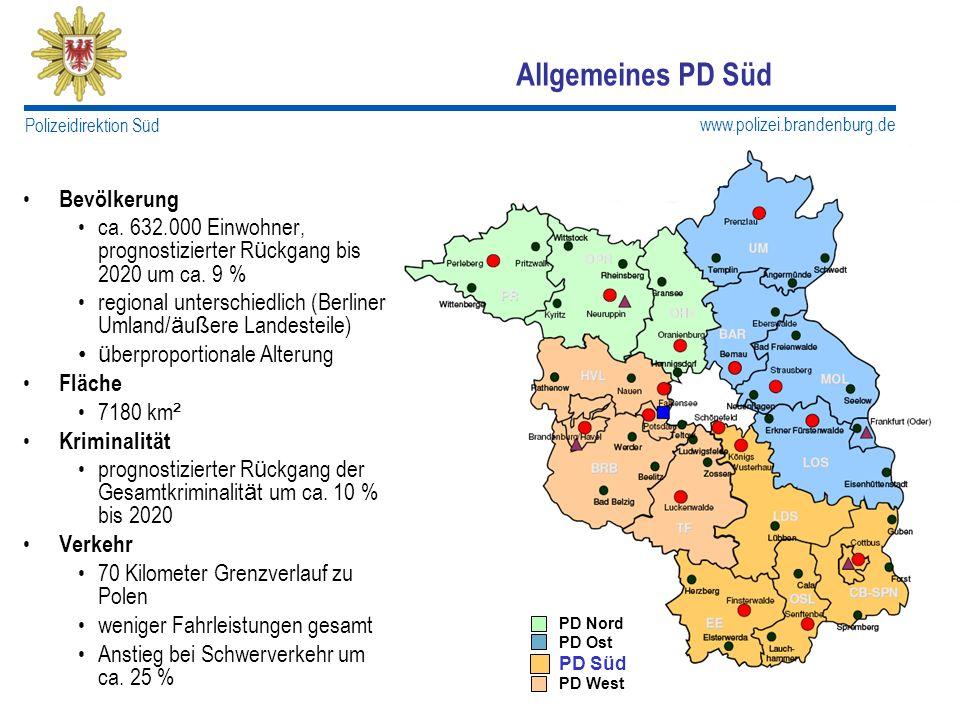 Allgemeines PD Süd Bevölkerung