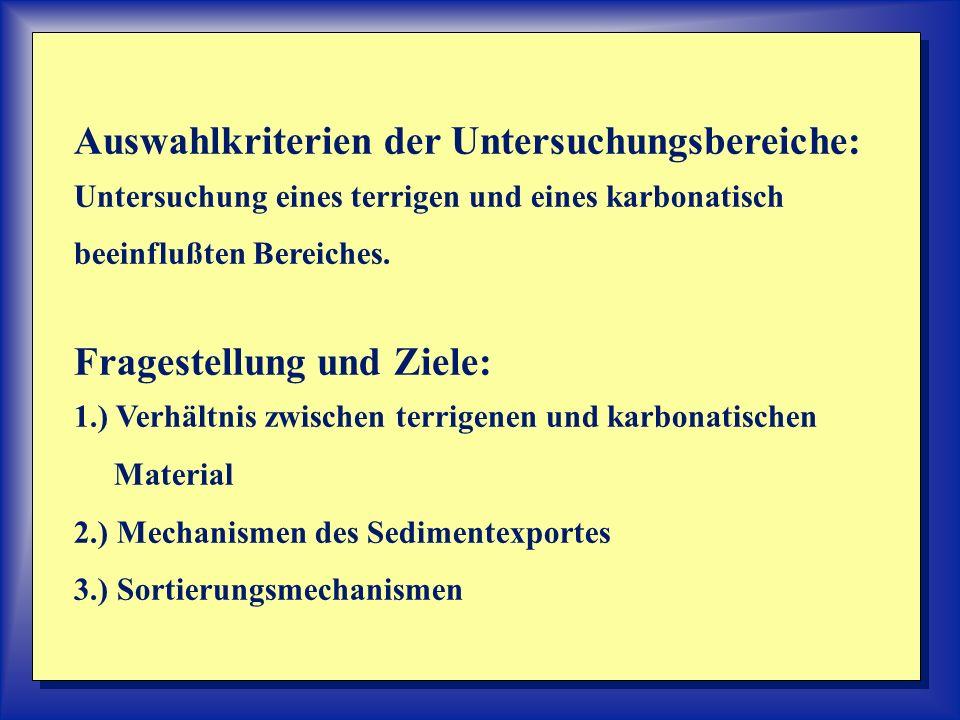 Auswahlkriterien der Untersuchungsbereiche: