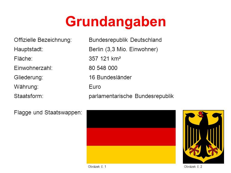 Grundangaben Offizielle Bezeichnung: Bundesrepublik Deutschland