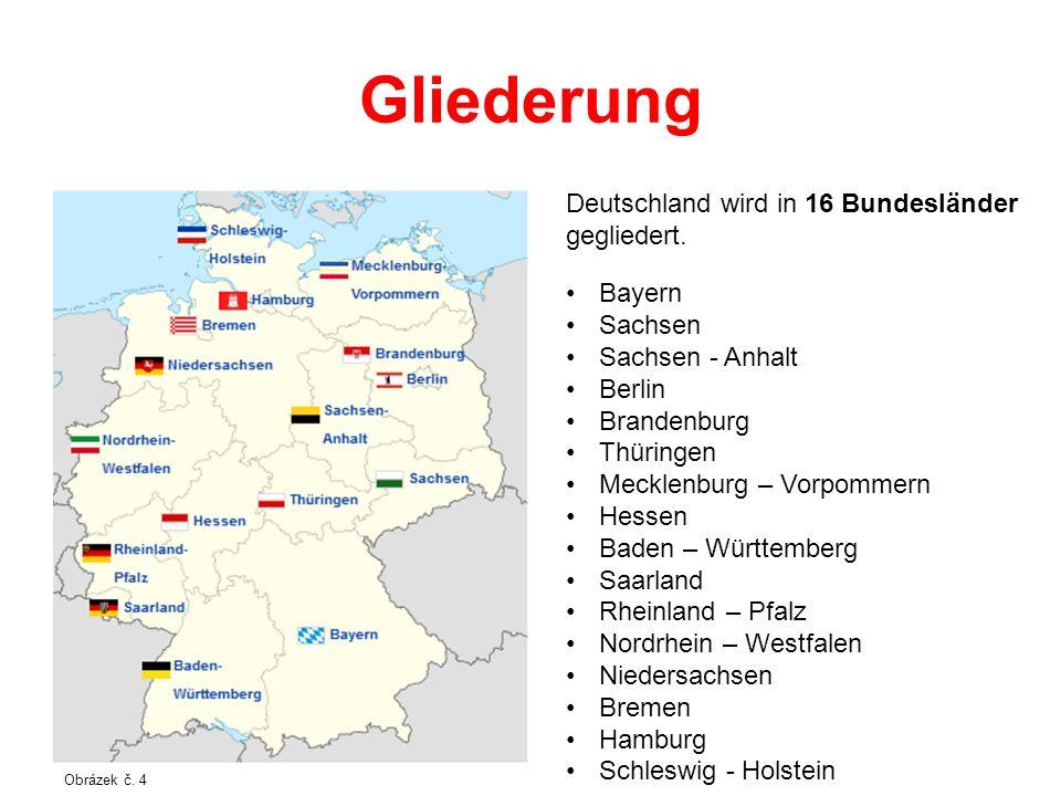 Gliederung Deutschland wird in 16 Bundesländer gegliedert. Bayern