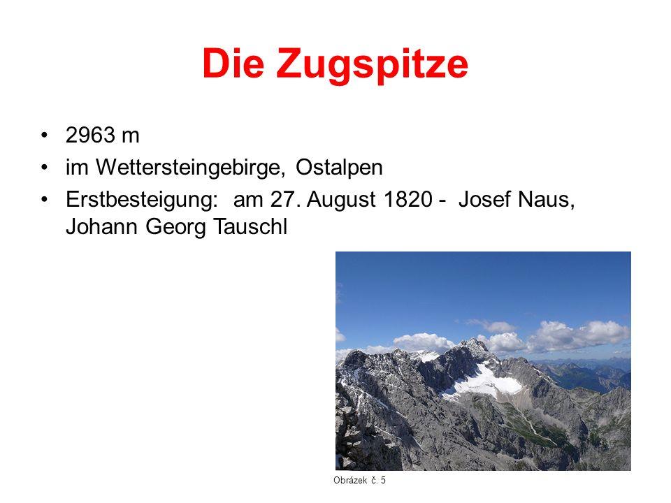 Die Zugspitze 2963 m im Wettersteingebirge, Ostalpen