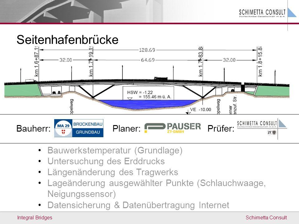 Seitenhafenbrücke Bauherr: Planer: Prüfer: