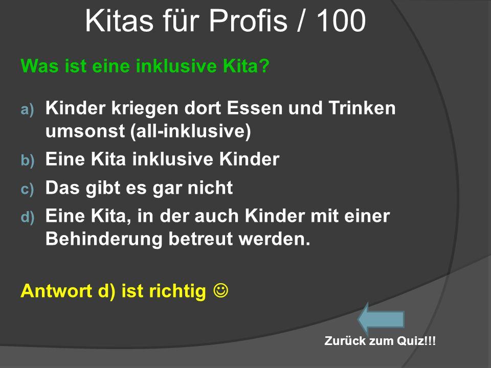 Kitas für Profis / 100 Was ist eine inklusive Kita