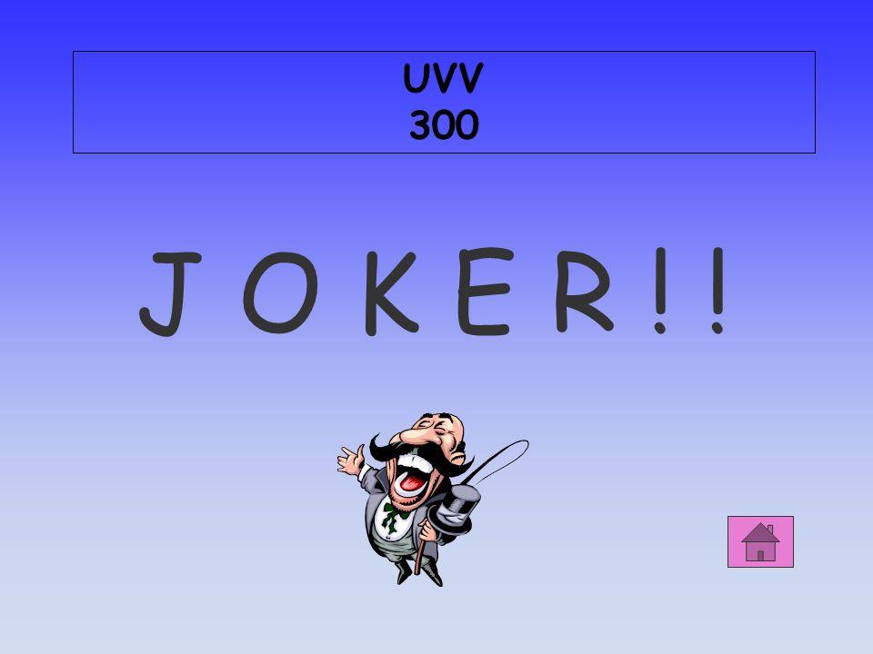 UVV 300 J O K E R ! !