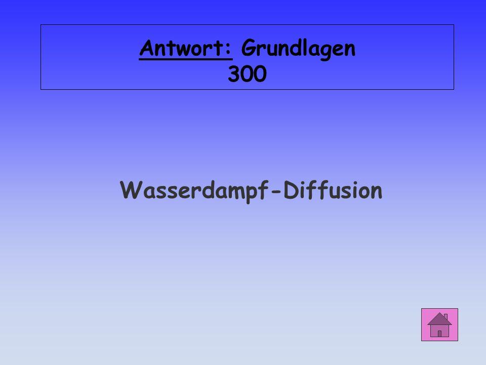 Wasserdampf-Diffusion