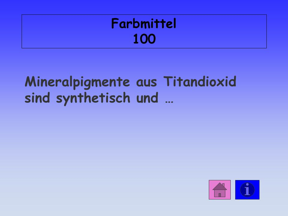 Mineralpigmente aus Titandioxid sind synthetisch und …