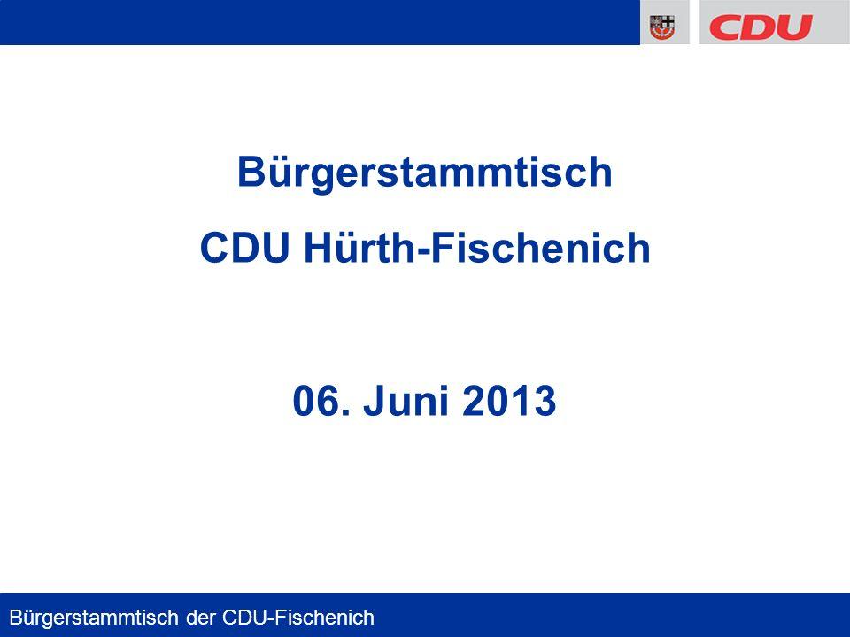 Bürgerstammtisch CDU Hürth-Fischenich 06. Juni 2013