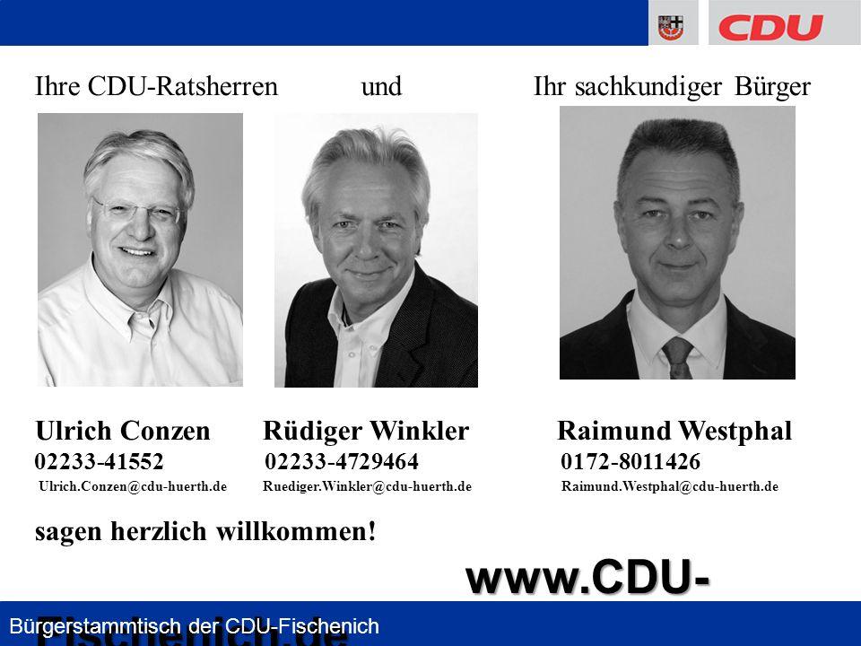 Ihre CDU-Ratsherren und Ihr sachkundiger Bürger
