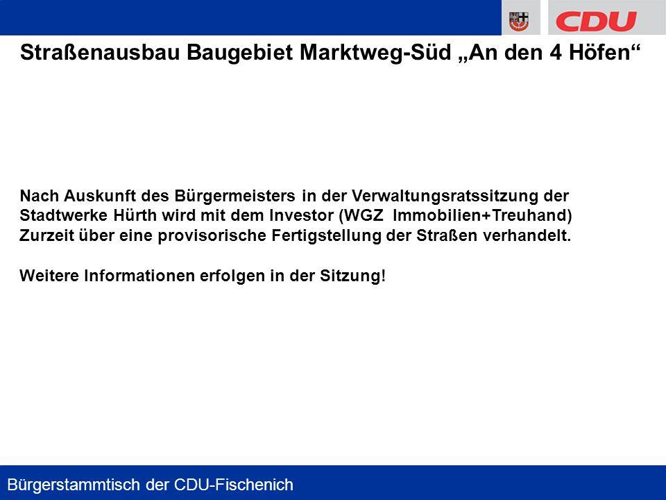 "Straßenausbau Baugebiet Marktweg-Süd ""An den 4 Höfen"
