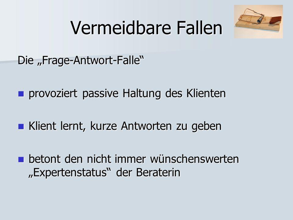 """Vermeidbare Fallen Die """"Frage-Antwort-Falle"""