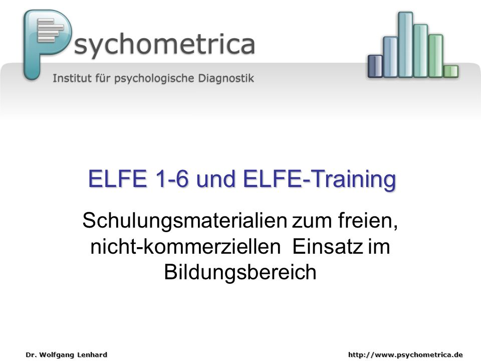 ELFE 1-6 und ELFE-Training