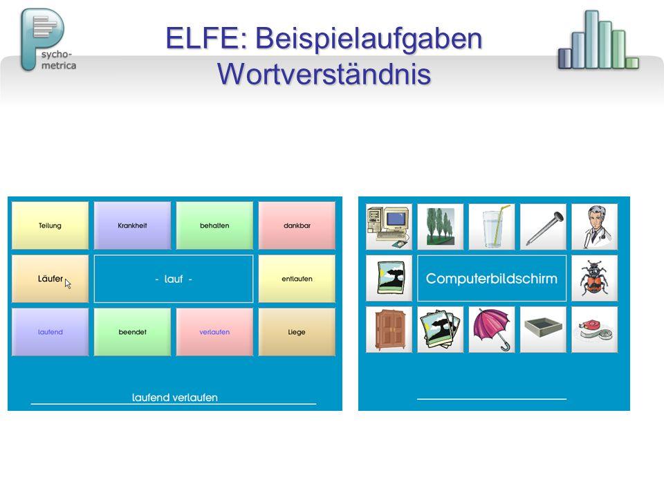 ELFE: Beispielaufgaben Wortverständnis
