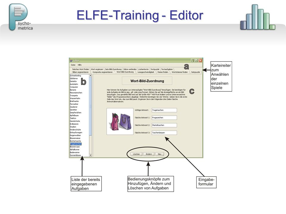 ELFE-Training - Editor