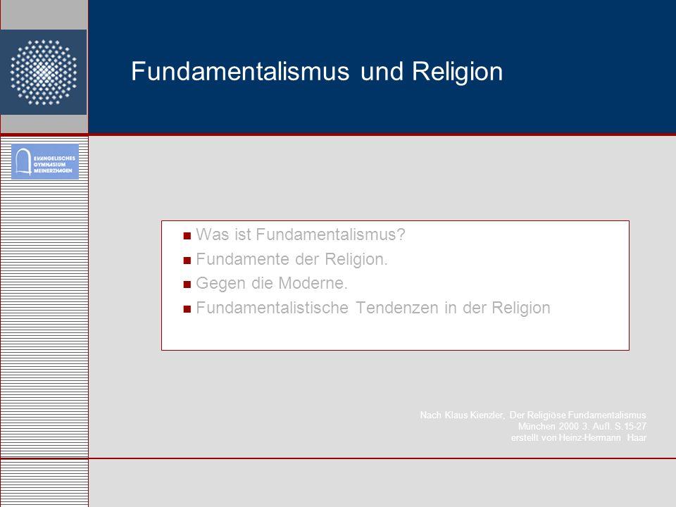 Fundamentalismus und Religion