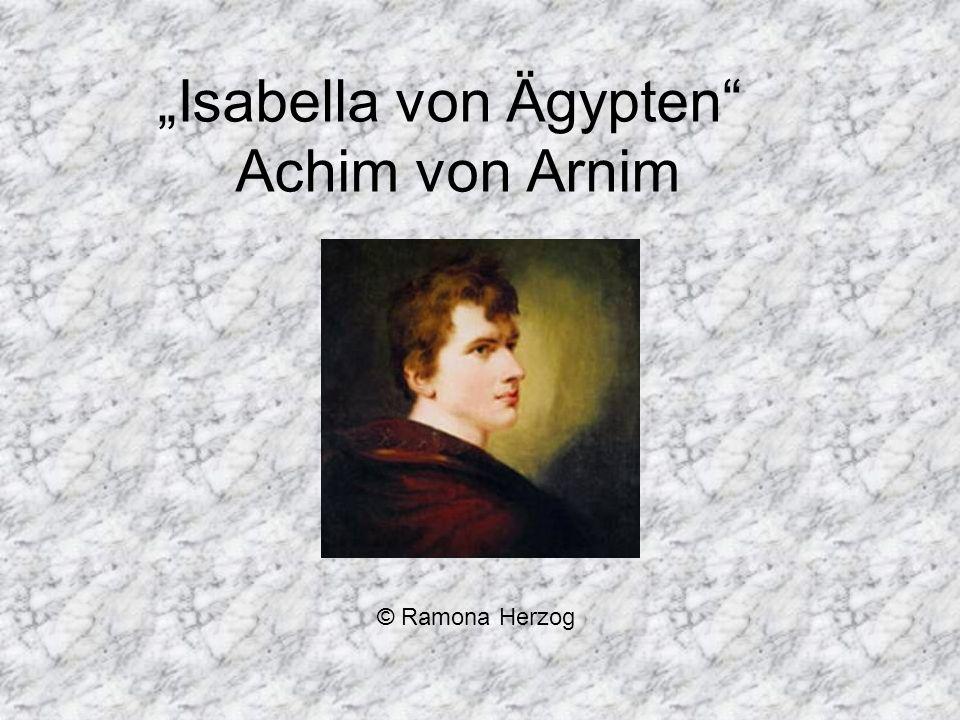 """""""Isabella von Ägypten Achim von Arnim"""