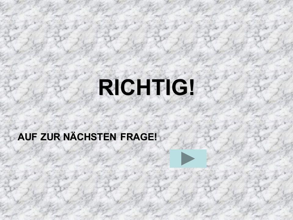 RICHTIG! AUF ZUR NÄCHSTEN FRAGE!