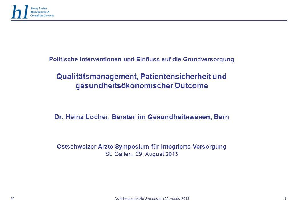 Dr. Heinz Locher, Berater im Gesundheitswesen, Bern