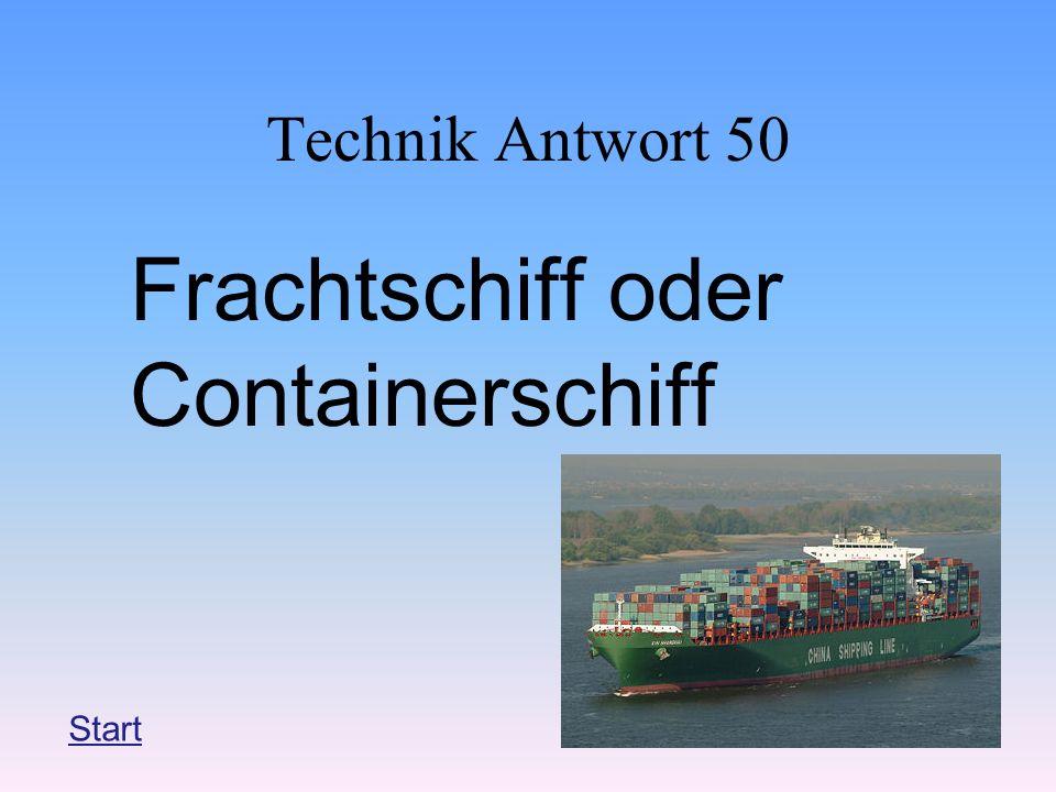 Frachtschiff oder Containerschiff