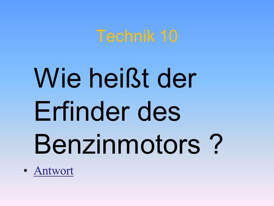 Wie heißt der Erfinder des Benzinmotors