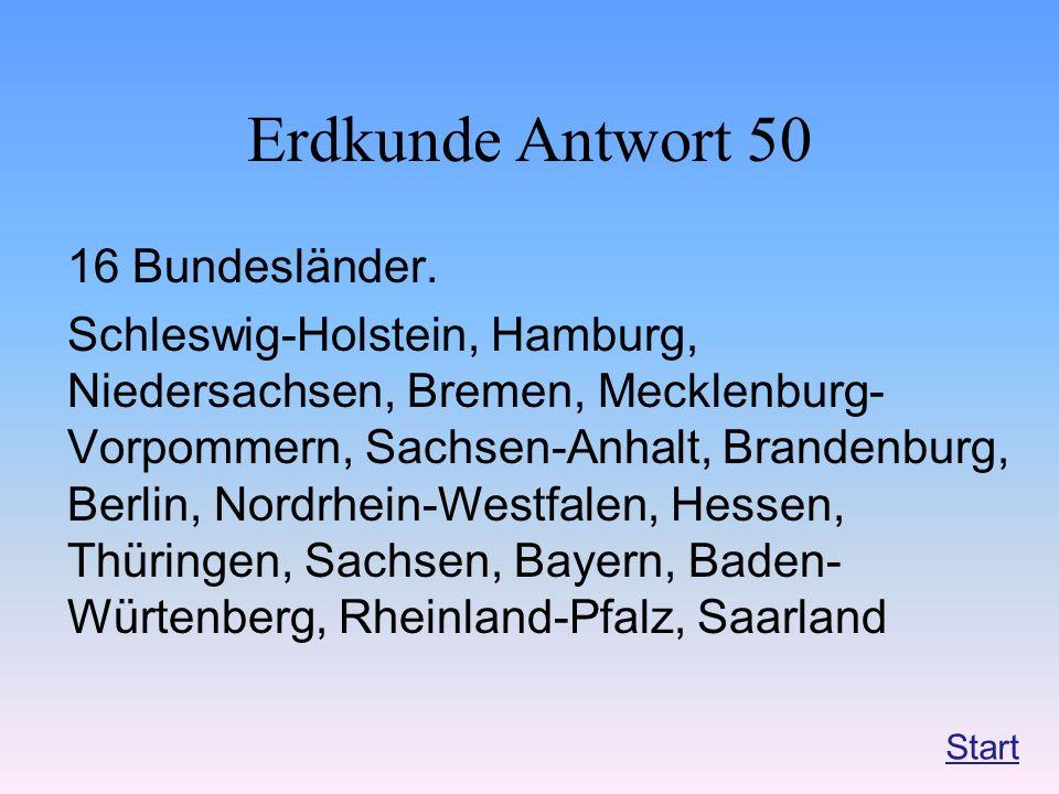 Erdkunde Antwort 50 16 Bundesländer.