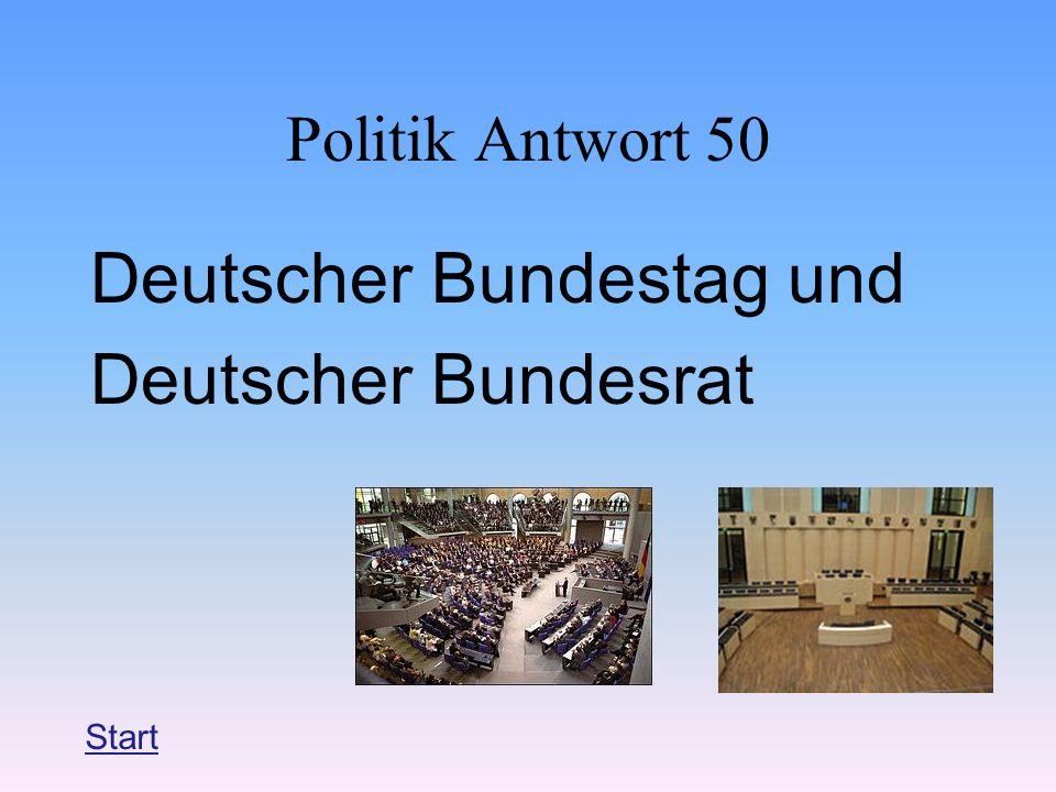 Deutscher Bundestag und Deutscher Bundesrat