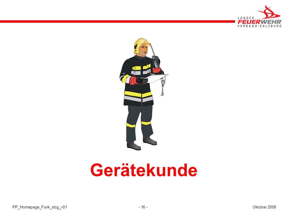Gerätekunde PP_Homepage_Funk_sbg_v01 Oktober 2008