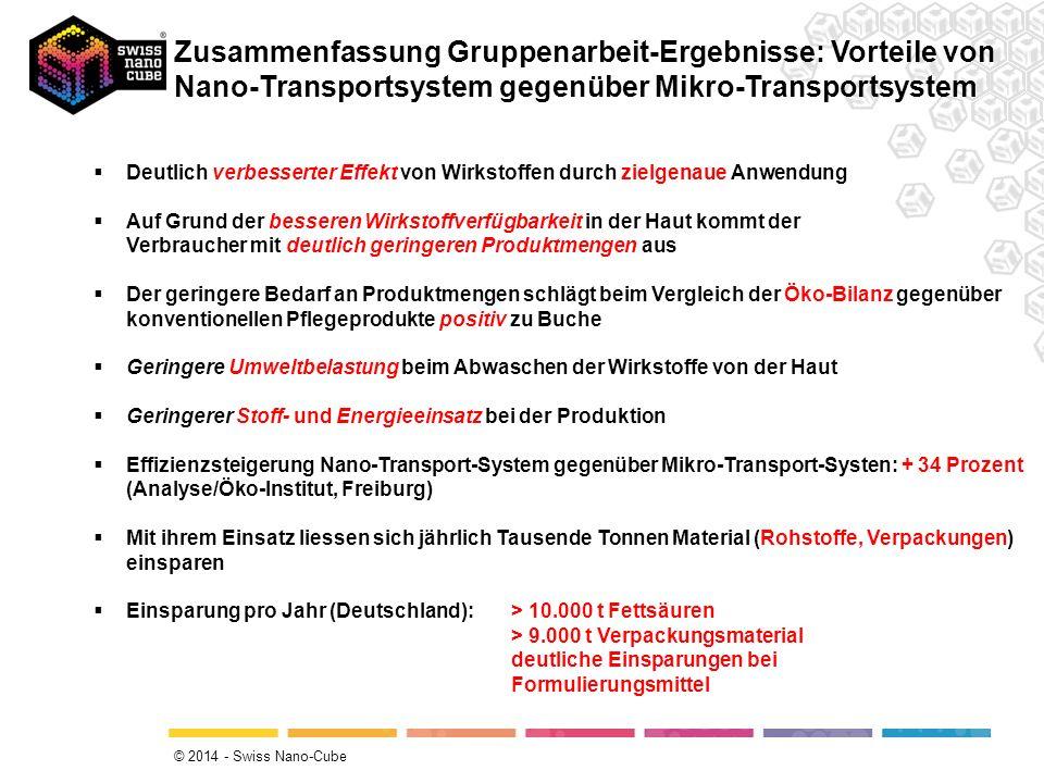 Zusammenfassung Gruppenarbeit-Ergebnisse: Vorteile von Nano-Transportsystem gegenüber Mikro-Transportsystem