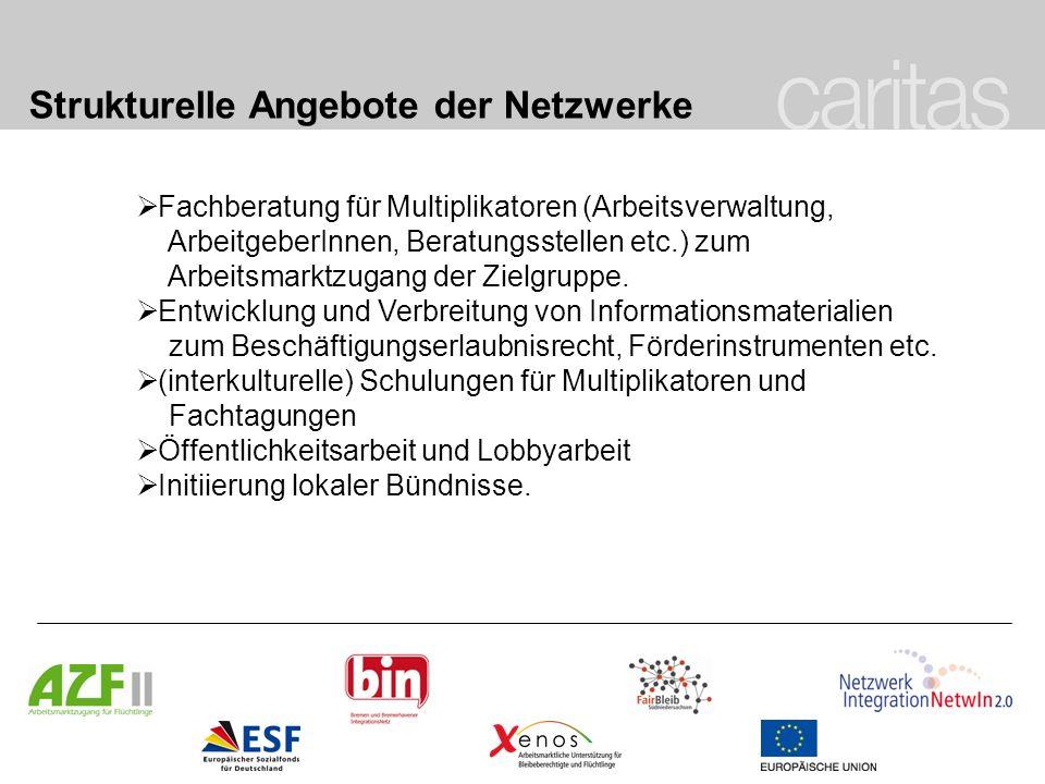 Strukturelle Angebote der Netzwerke