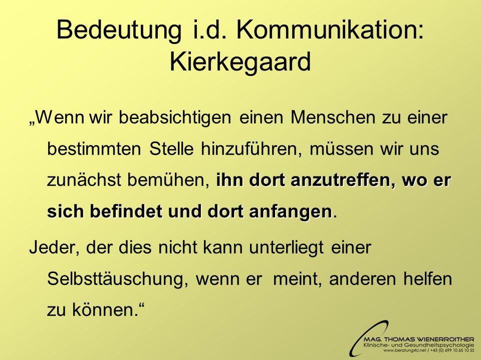 Bedeutung i.d. Kommunikation: Kierkegaard
