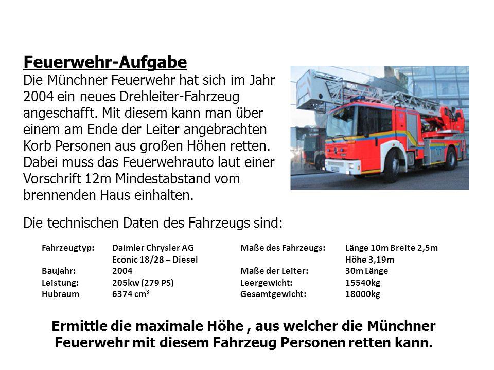 Feuerwehr-Aufgabe