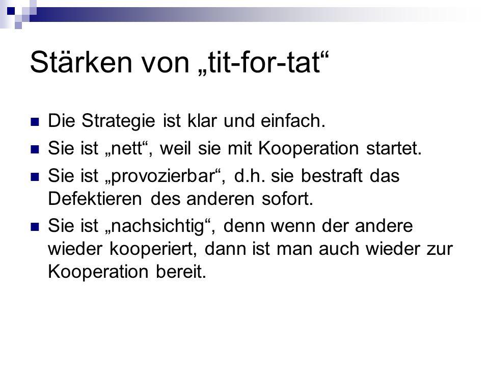 """Stärken von """"tit-for-tat"""