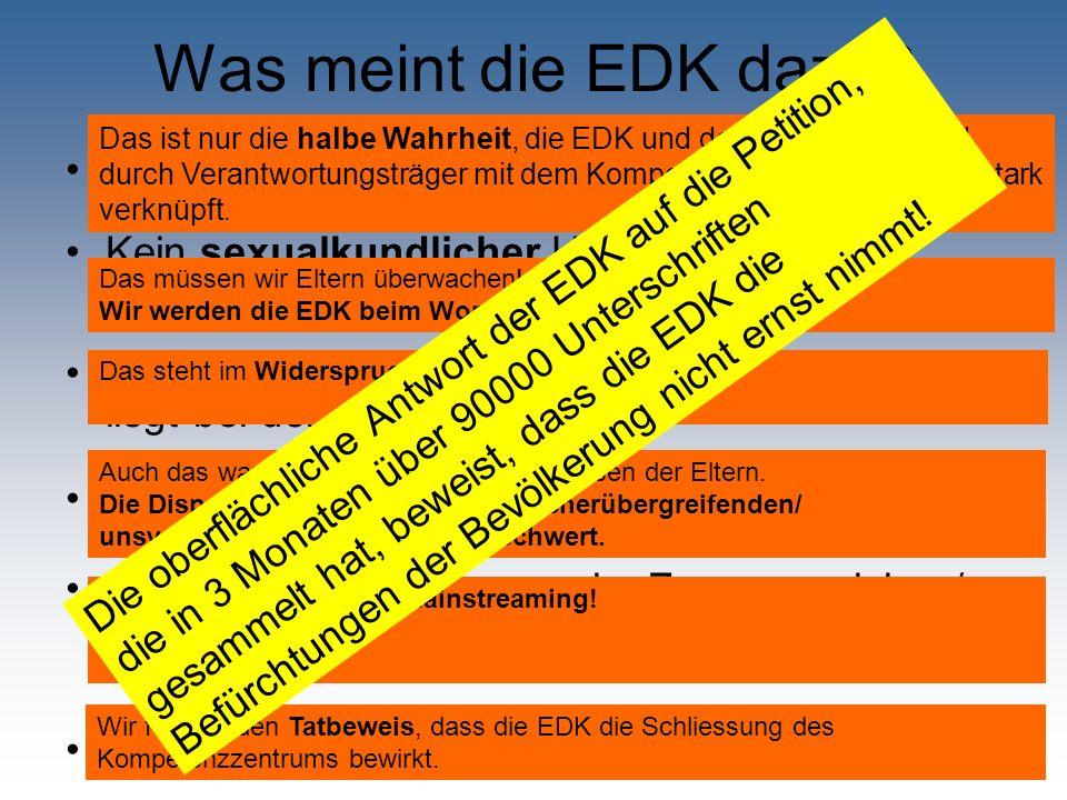 Was meint die EDK dazu Kompetenzzentrum ohne Mitwirkung der EDK