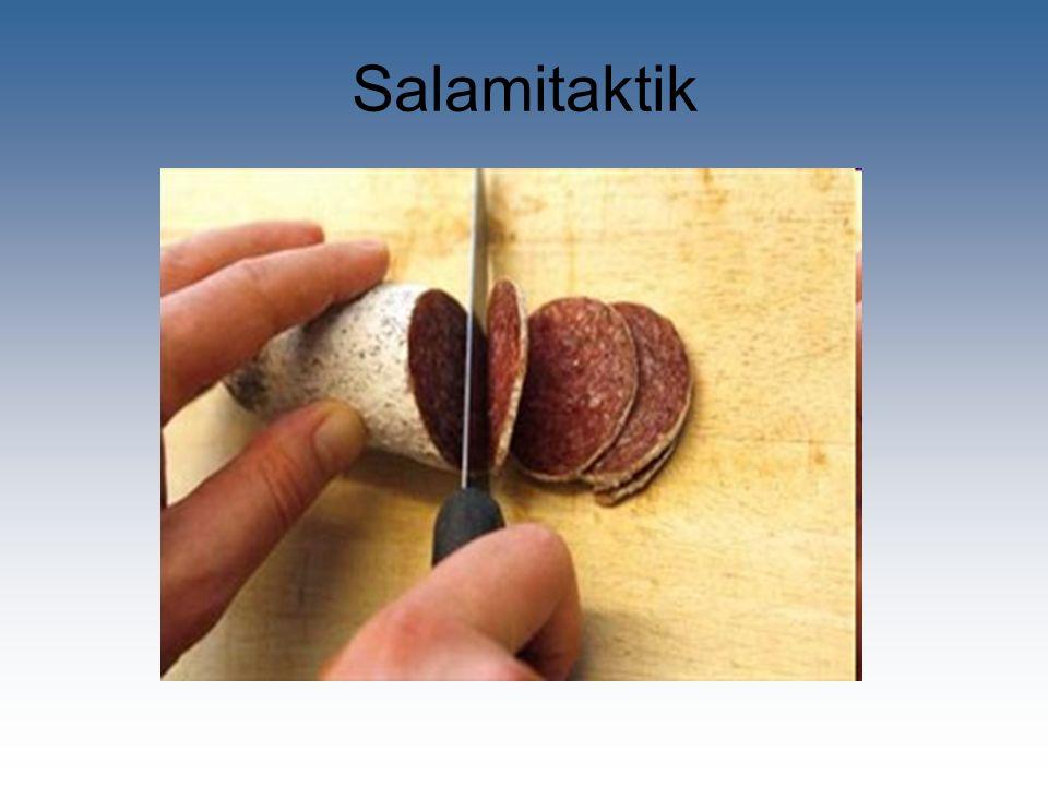 Salamitaktik … und doch arbeitet das BAG weiter.