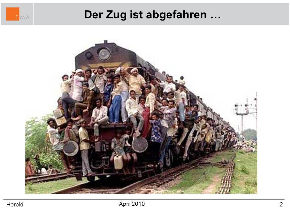 Der Zug ist abgefahren …