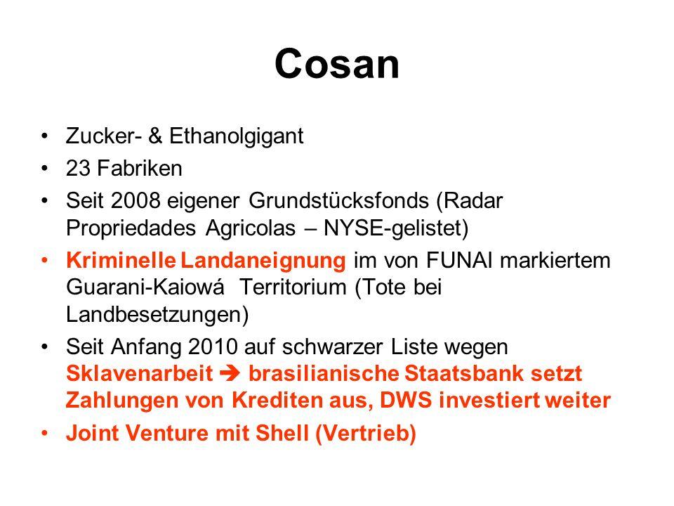 Cosan Zucker- & Ethanolgigant 23 Fabriken
