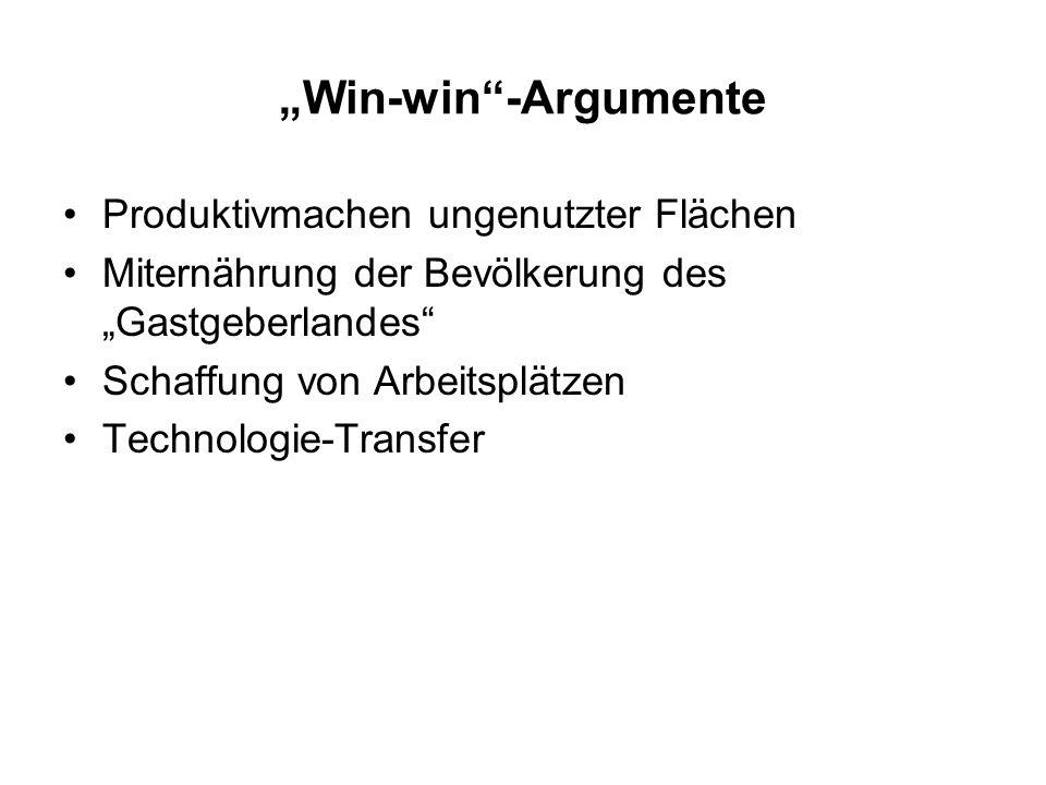 """""""Win-win -Argumente Produktivmachen ungenutzter Flächen"""