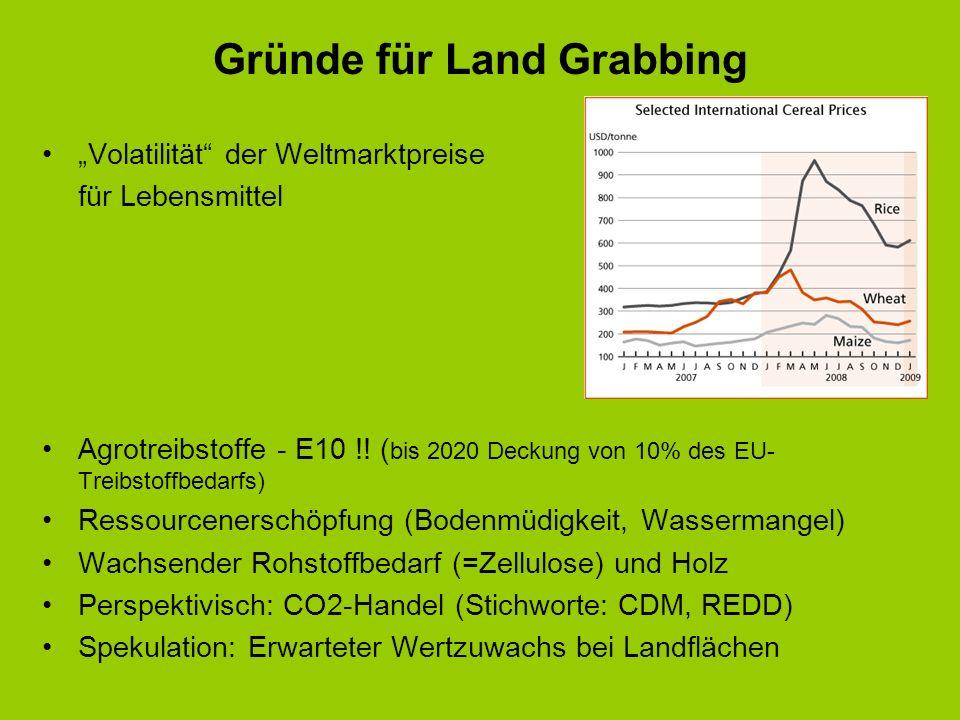 Gründe für Land Grabbing