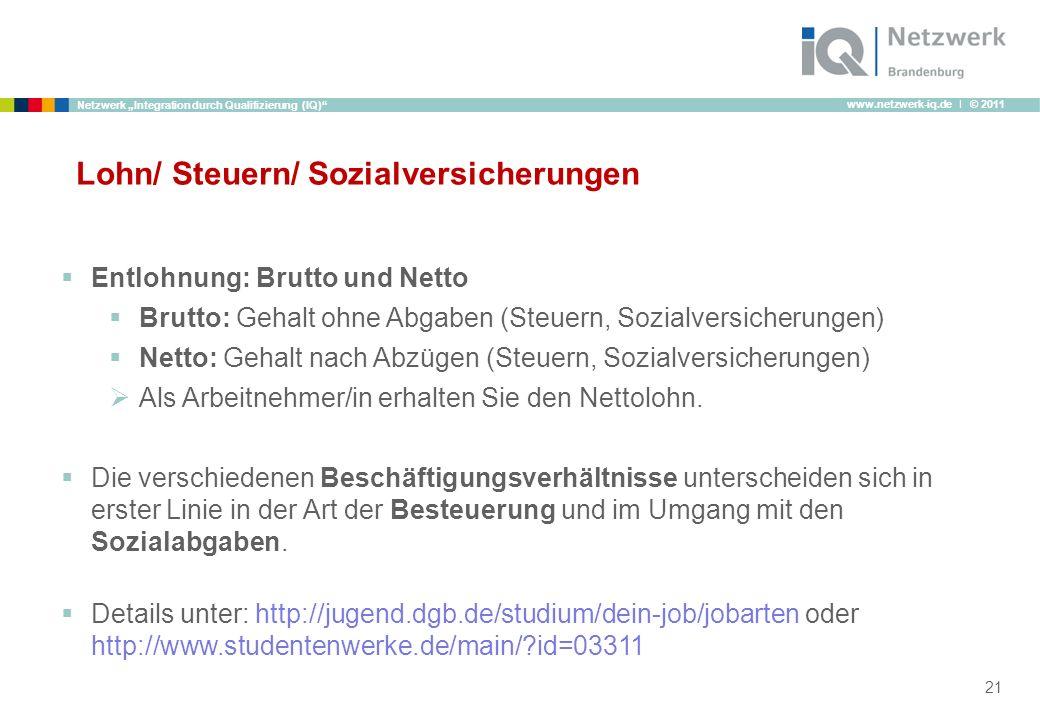 Lohn/ Steuern/ Sozialversicherungen