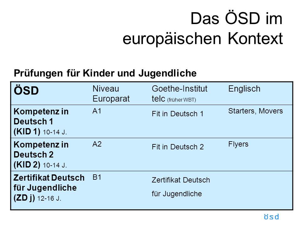 Das ÖSD im europäischen Kontext