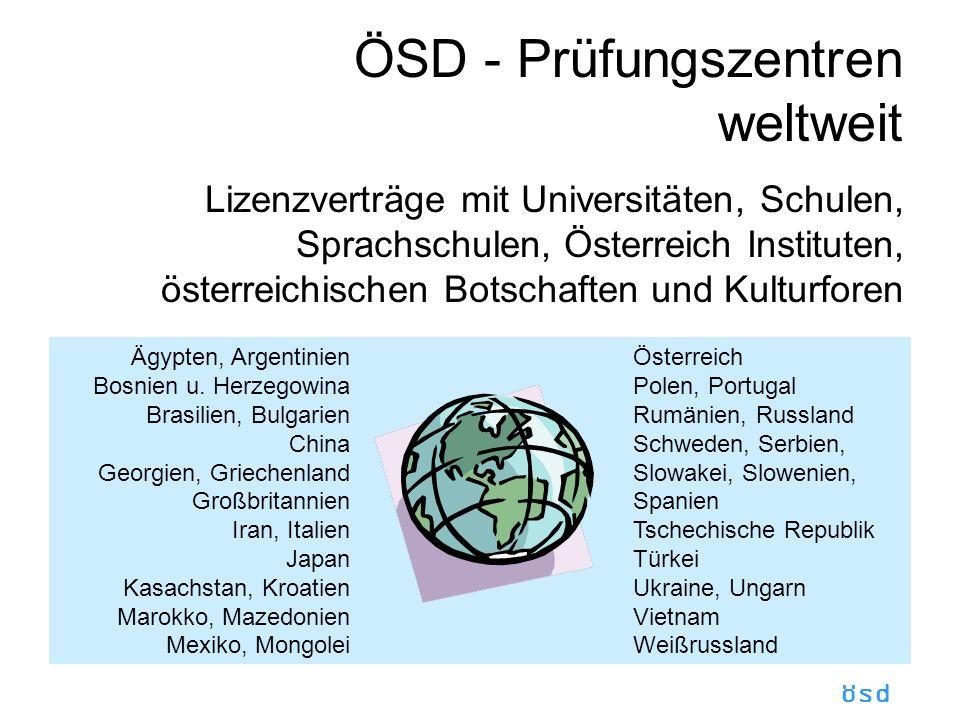 ÖSD - Prüfungszentren weltweit
